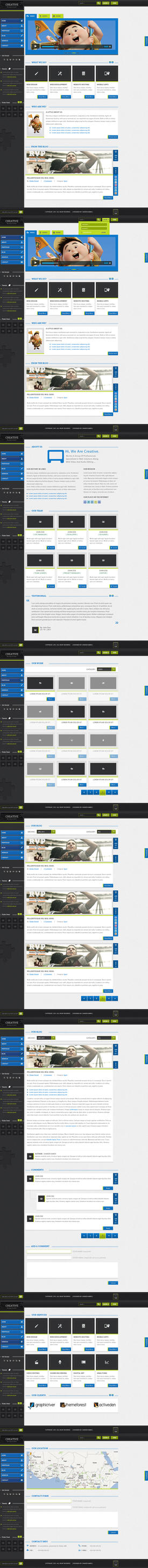 luminous full website html, css Template for Sale by ahmedchan