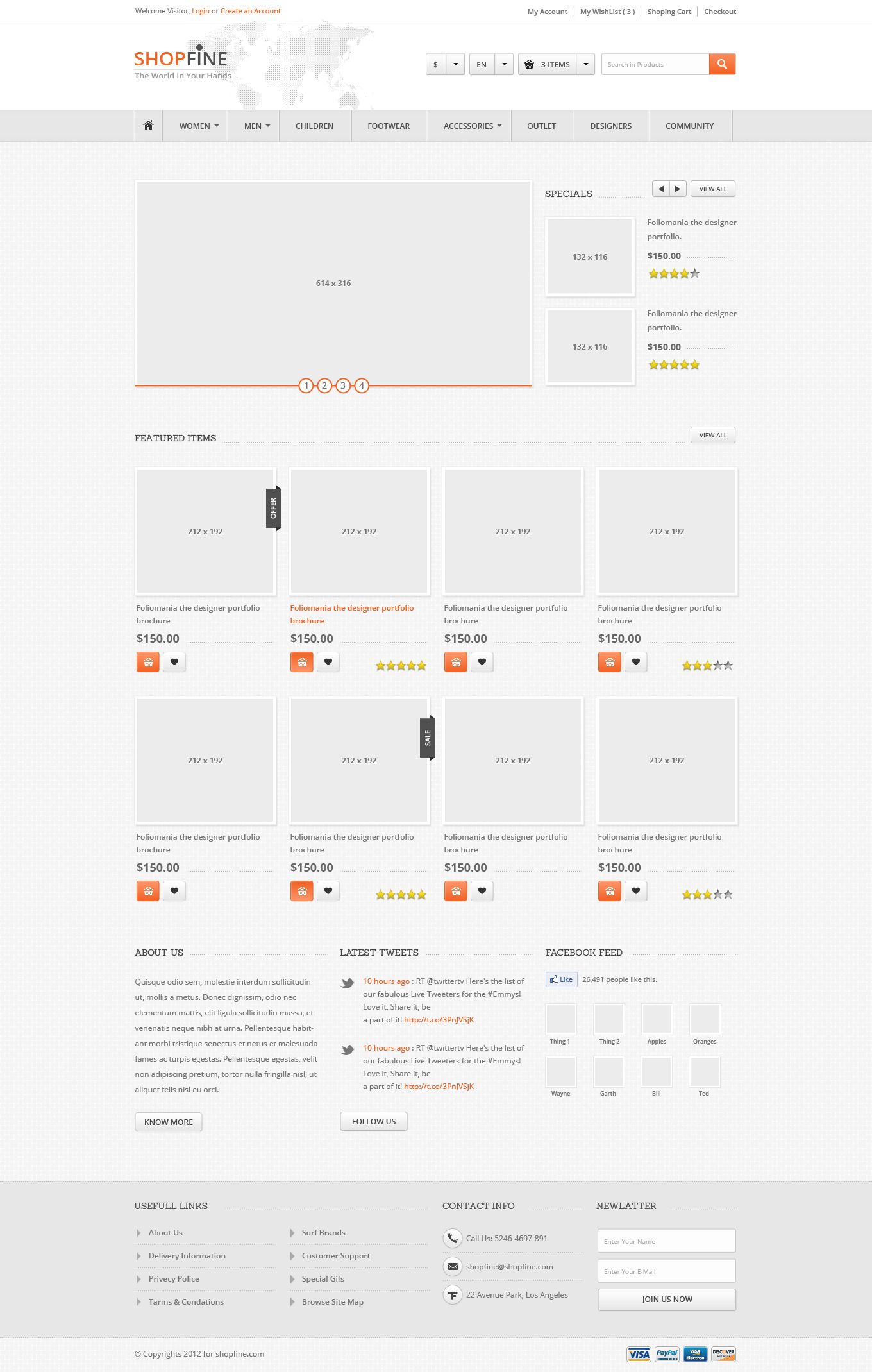 ShopFine : Modern Premium eCommerce PSD by ahmedchan
