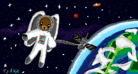 Jasztronaut in Orbit by kittyshootingstar