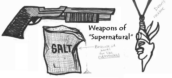 weapons of Supernatural TV by bthekryptonite44