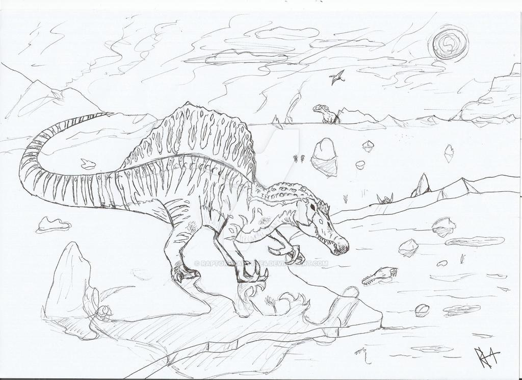 spinosaurus by RAPTORHEARTthe4
