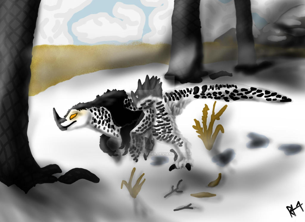 Snowy Dasheoraptor by RAPTORHEARTthe4