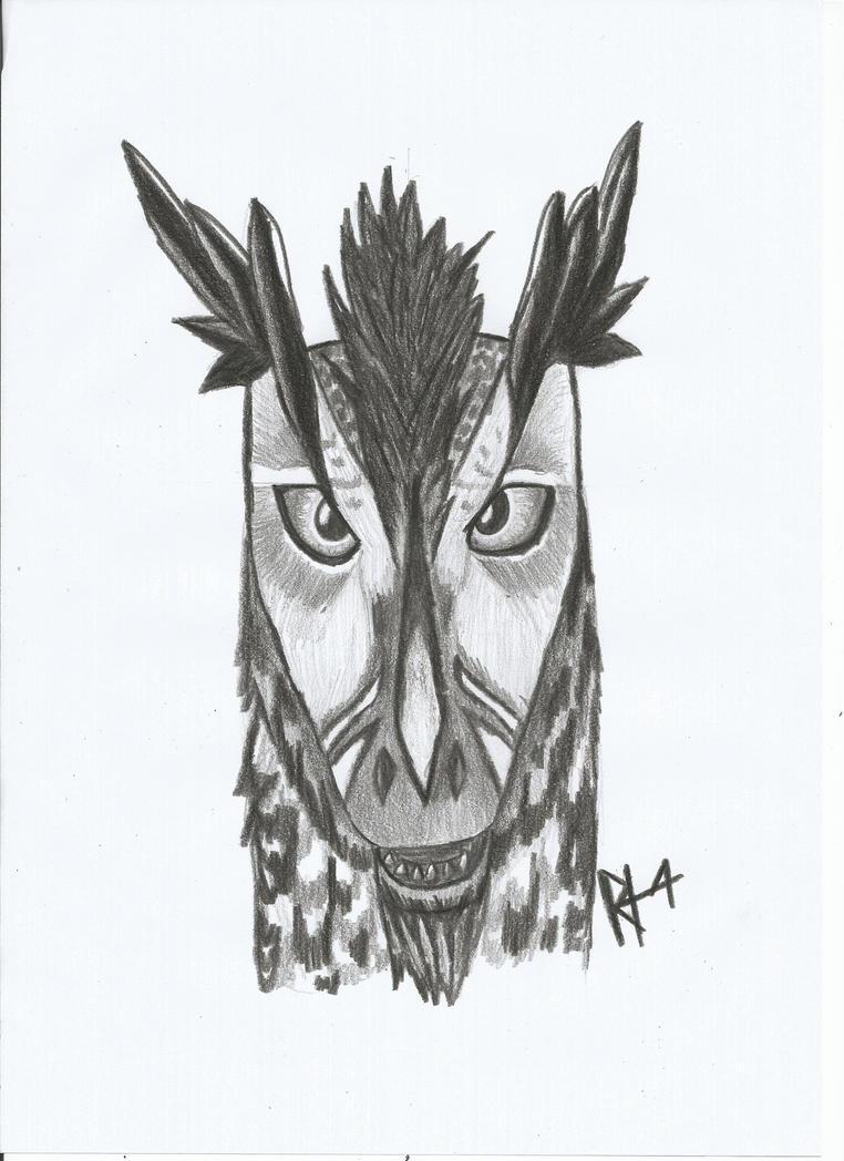 Horned Dasheoraptor by RAPTORHEARTthe4