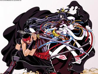Kurogane and Tomoyo by asga