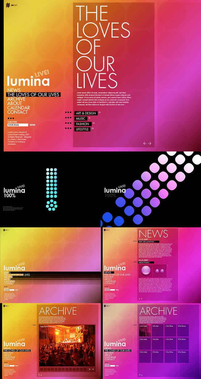 _web: LuminaLive by denzmixed