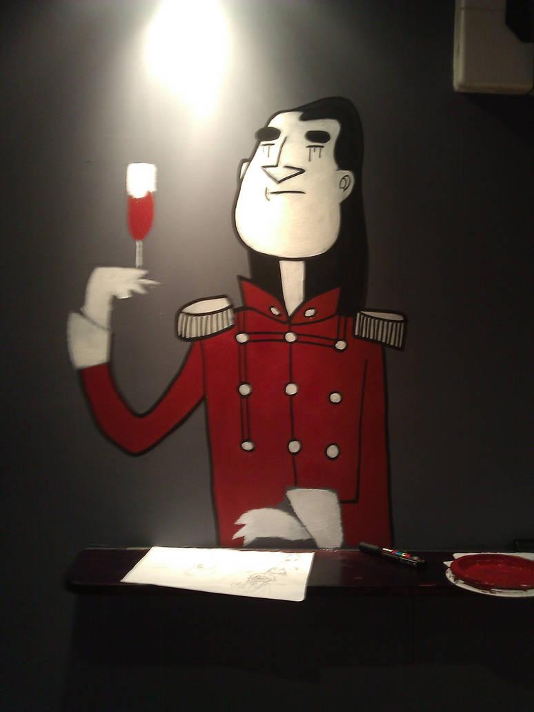 Full moon lounge mural - Goth...eer...vampire
