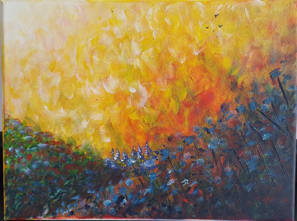 Fields ablaze by EnlilNinlil