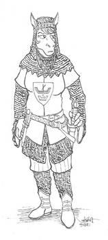 Red Shetland Borderlands Knight