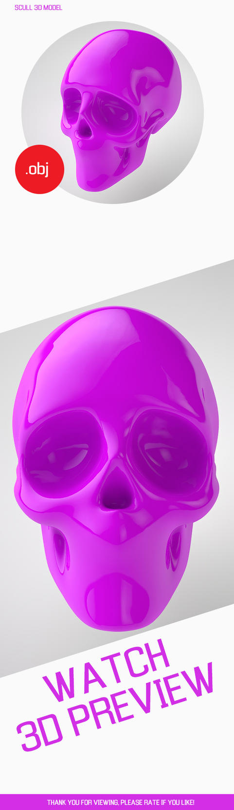 Scull 3d Model FREE by LeonidN