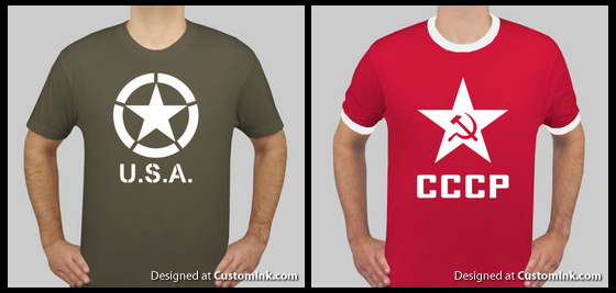USA and CCCP T-Shirt Designs by naca0012