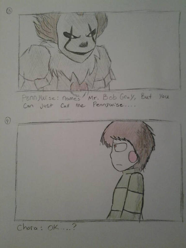 chara meets pennywise bob gray pg ii by wkeeble on chara meets pennywise bob gray pg ii by wkeeble12