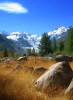 Morteratsch Glacier by kuschelirmel-stock