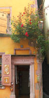 Riquewihr - Door with Roses