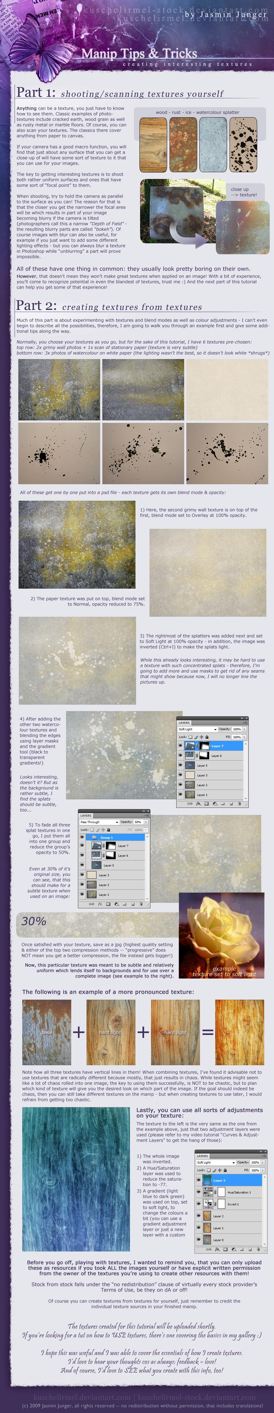 Manip T+T: Creating Textures by kuschelirmel-stock