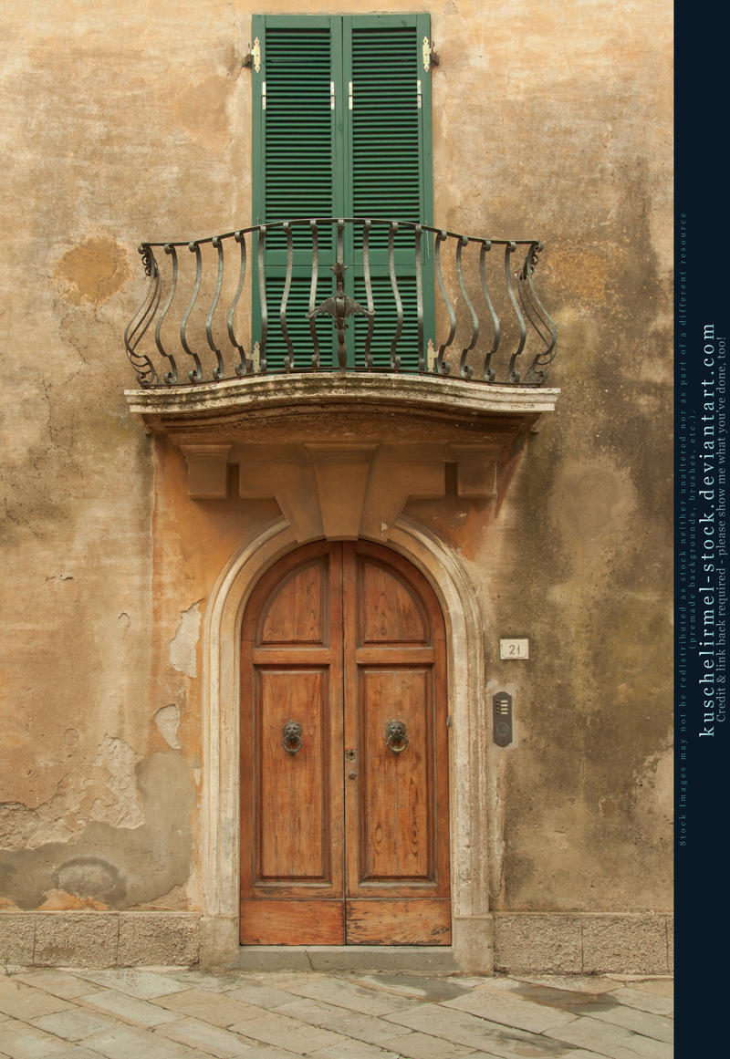 door with balcony I by kuschelirmel-stock