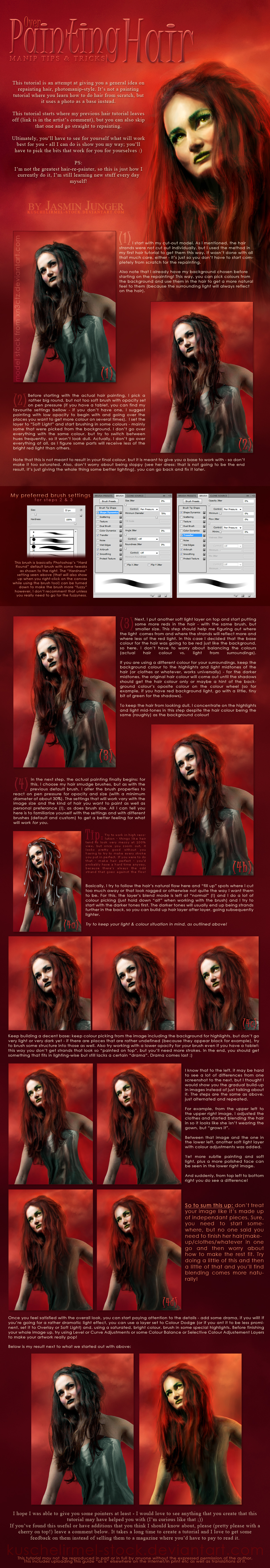 ManipT+T- - Over-Painting Hair by kuschelirmel-stock