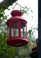 Tuscany Stock - Red Lamp by kuschelirmel-stock