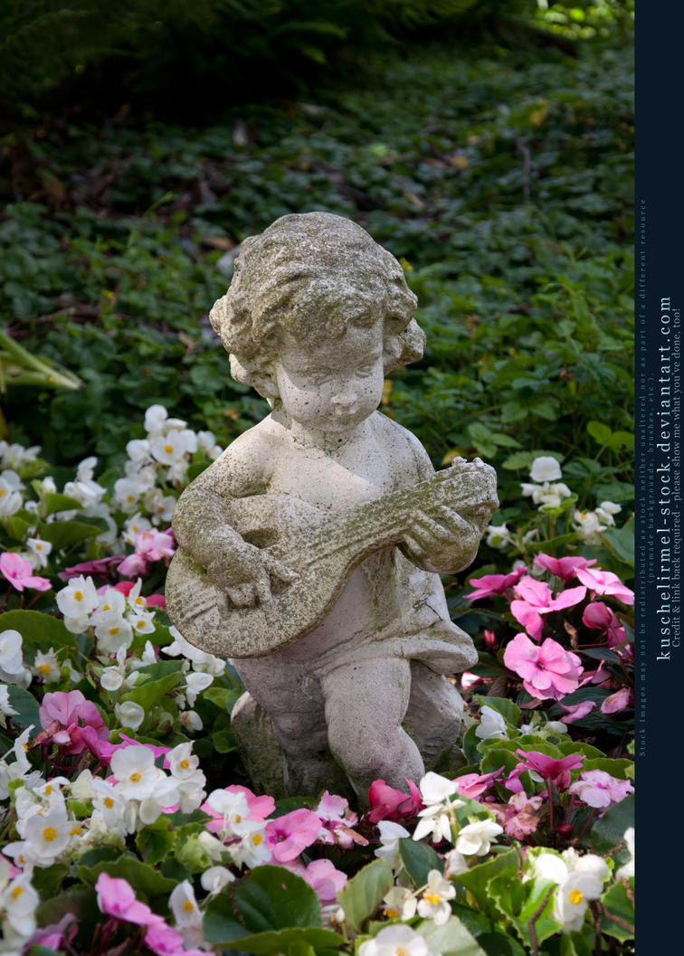 Angel Statue in the Garden by kuschelirmel stock on DeviantArt