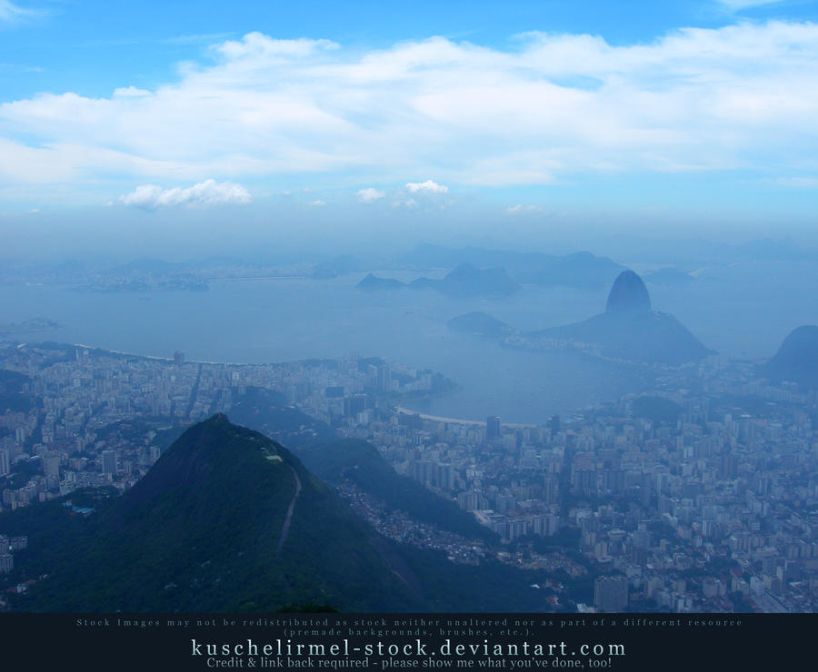 View from Corcovado 06 by kuschelirmel-stock