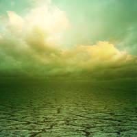 Cracked Earth Green by kuschelirmel-stock
