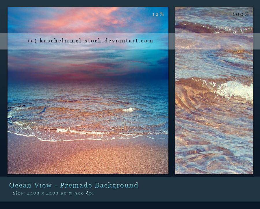 Ocean View Premade Background by kuschelirmel-stock