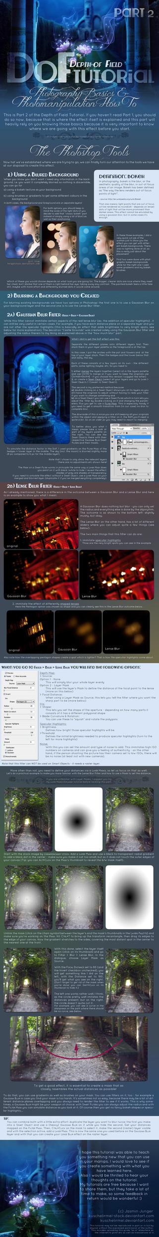Depth of Field Photomanipulation Tutorial Part 2 by kuschelirmel-stock