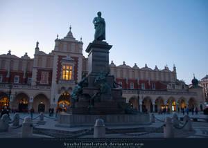 Adam Mickiewicz Monument + Cloth Hall 01 by kuschelirmel-stock