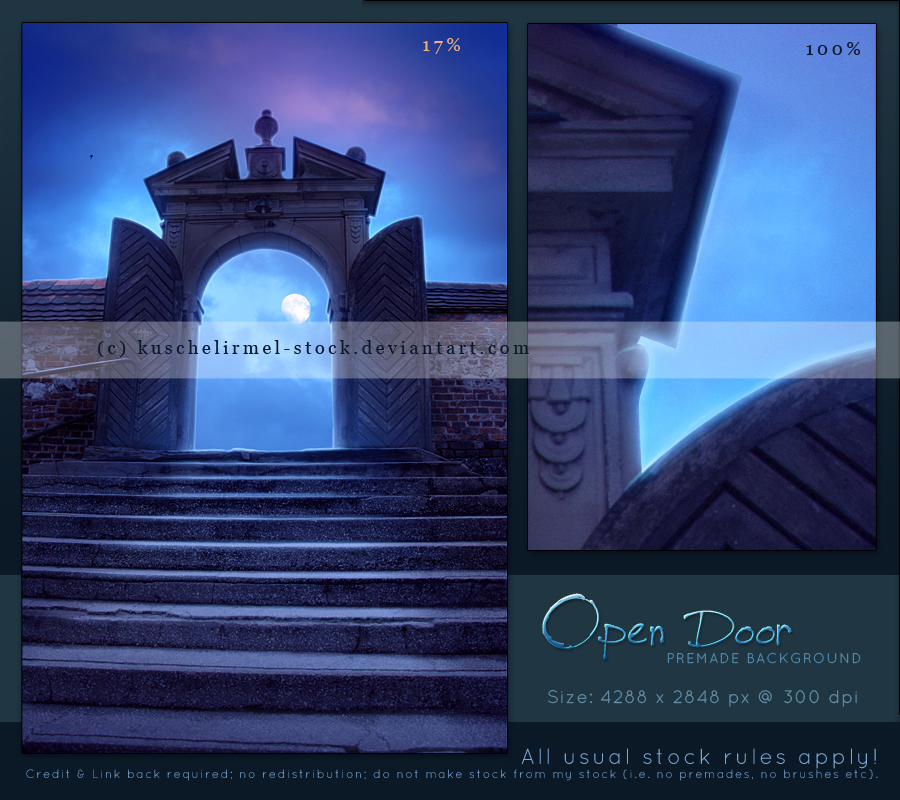 Open Door Premade by kuschelirmel-stock