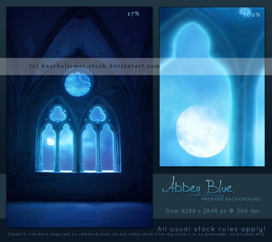 Abbey Blue - Premade Background by kuschelirmel-stock