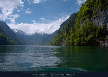 Alpine Lake - Clear Water - Mountains 01 by kuschelirmel-stock