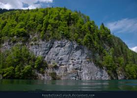 Alpine Lake - Clear Water - Cliff 03 by kuschelirmel-stock