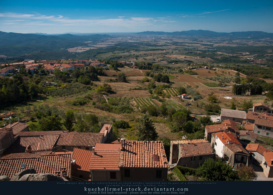 Tuscany from Above - Roccastrada 01 by kuschelirmel-stock