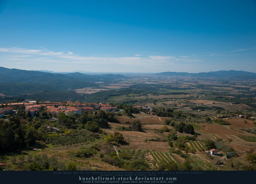 Tuscany from Above - Roccastrada 02 by kuschelirmel-stock