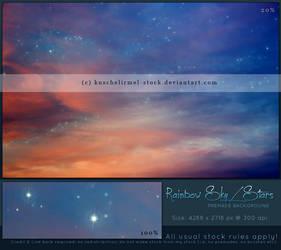Rainbow Sky With Stars Premade by kuschelirmel-stock