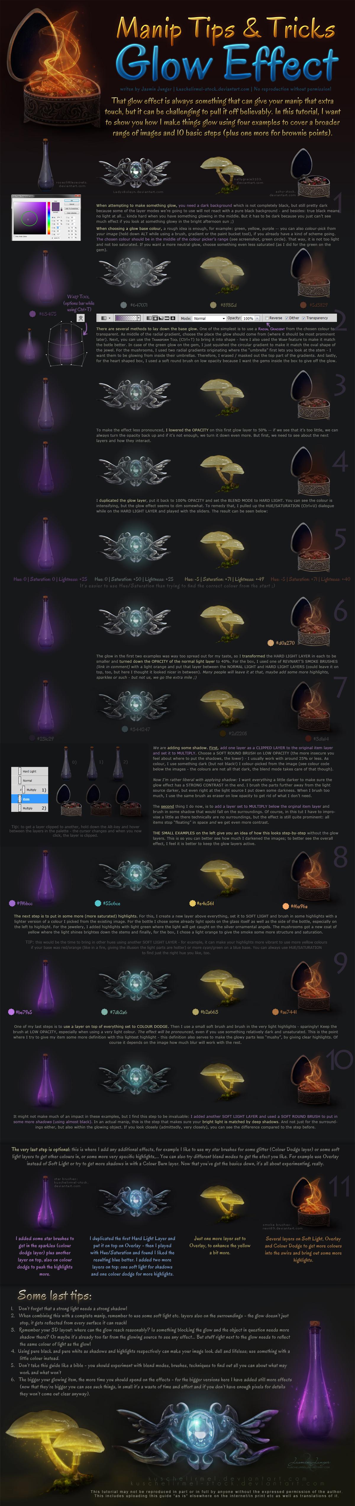 Manip Tips + Tricks - Glow Effect by kuschelirmel-stock
