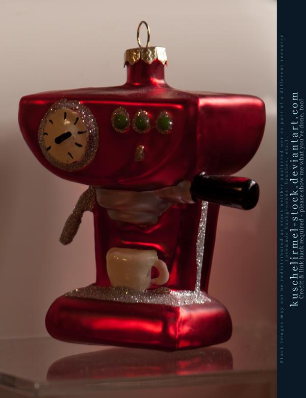 Coffee Christmas Ornaments.Christmas Ornaments Coffee Machine By Kuschelirmel Stock