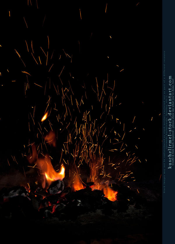 Flames and Sparks 03 by kuschelirmel-stock