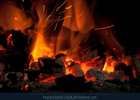 Burning Coal 06 by kuschelirmel-stock