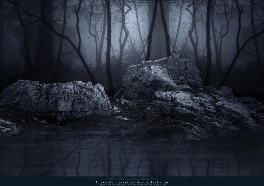 Premade Dark Forest Lake