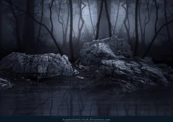 Premade Dark Forest Lake by kuschelirmel-stock