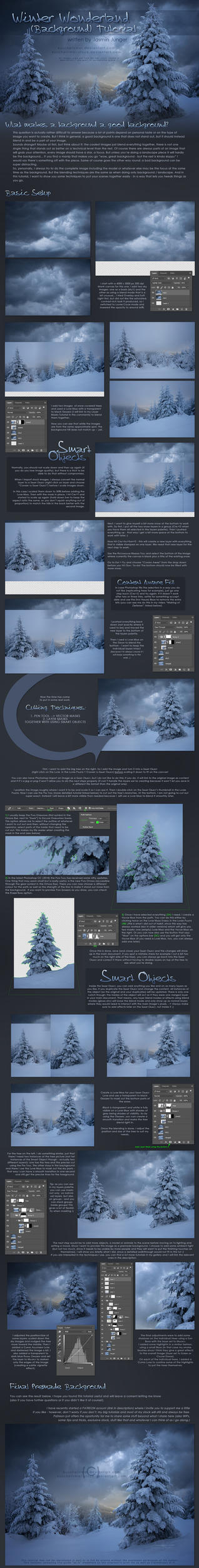 Winter Wonderland (Background) Tutorial by kuschelirmel-stock