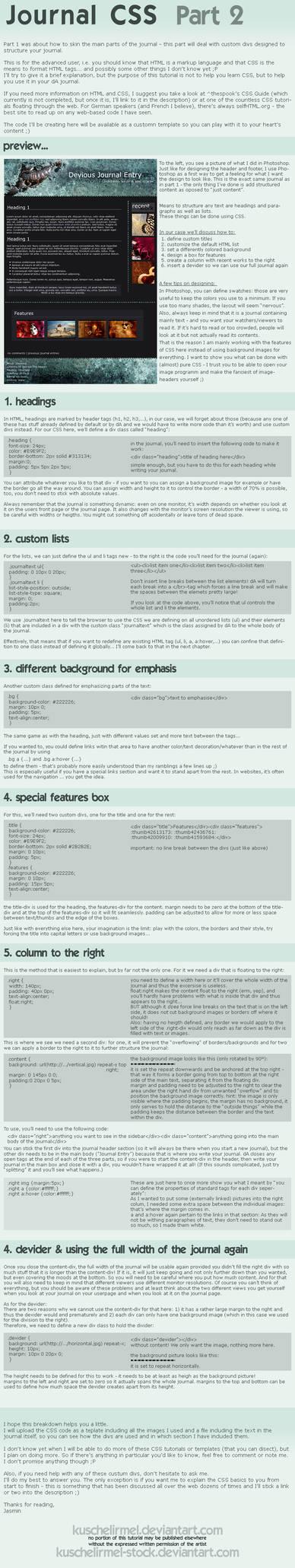 Journal CSS - Part 2