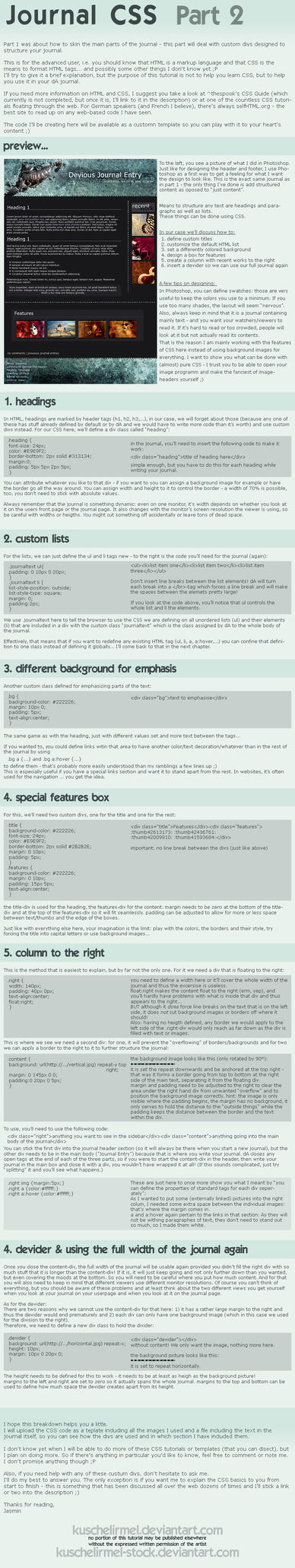 Journal CSS - Part 2 by kuschelirmel-stock