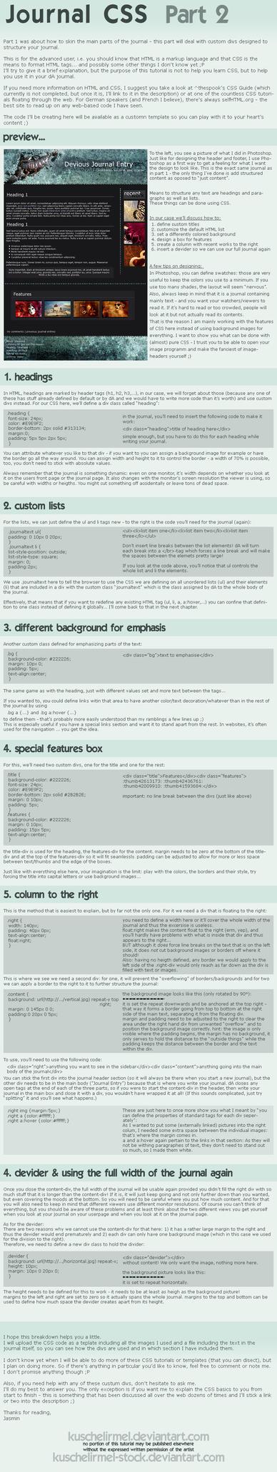 Journal CSS - Part 2 by kuschelirmel-stock