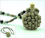 Skull Treasure Vial Necklace by SpiralArtisan