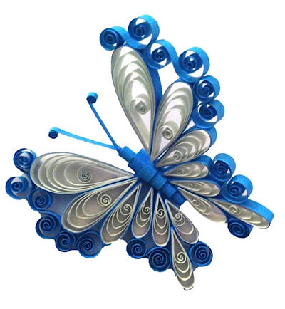 Quilling Earring Designs Butterfly : Shades of Blue Quilled Butterfly by SpiralArtisan on DeviantArt