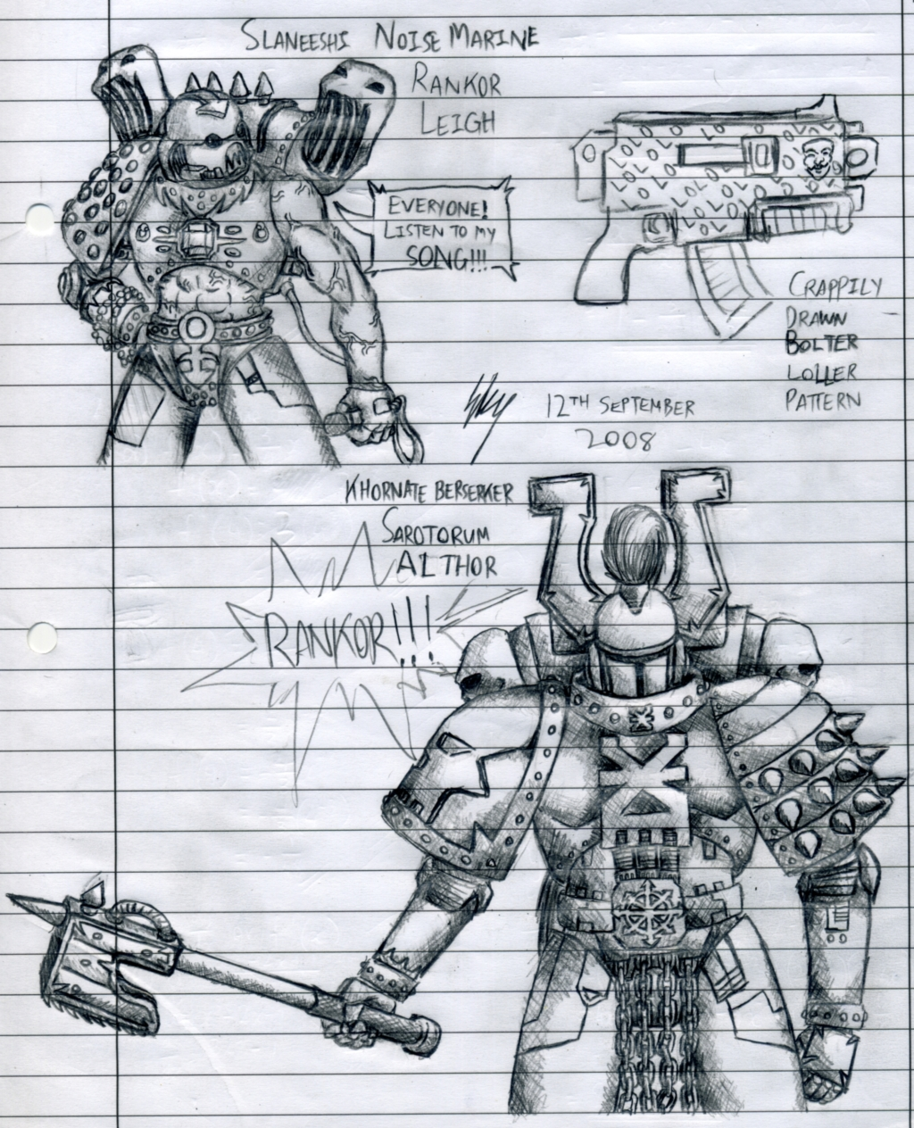 Noise Marine and Berzerker by SkyWhiteFox on DeviantArt