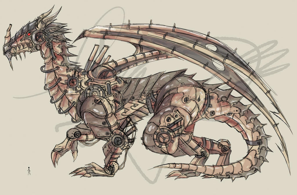 Elder Mechanical Dragon Design By Haru Naru On Deviantart