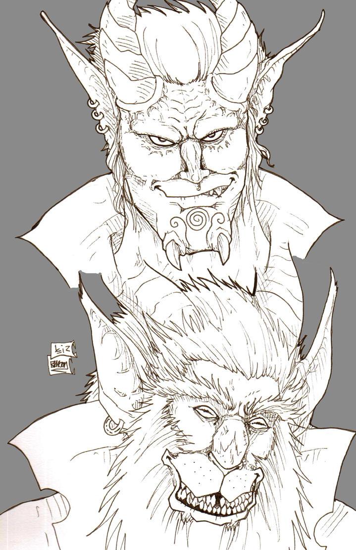WoW Villains doodles by Demorta