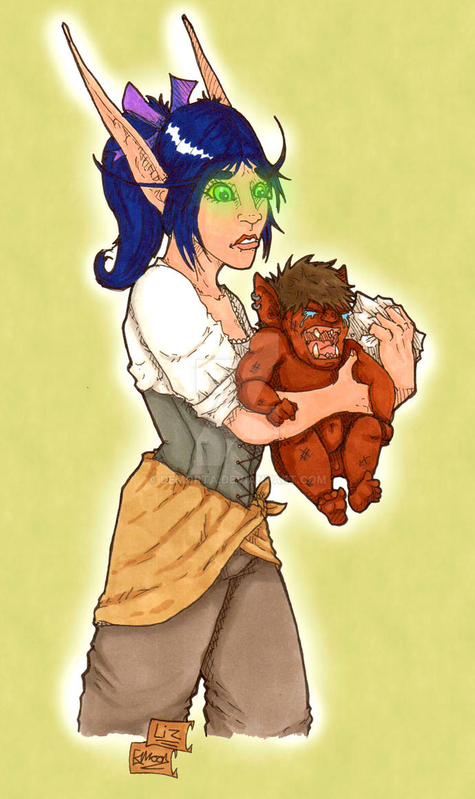 Baby Marg and Teen Arii by Demorta
